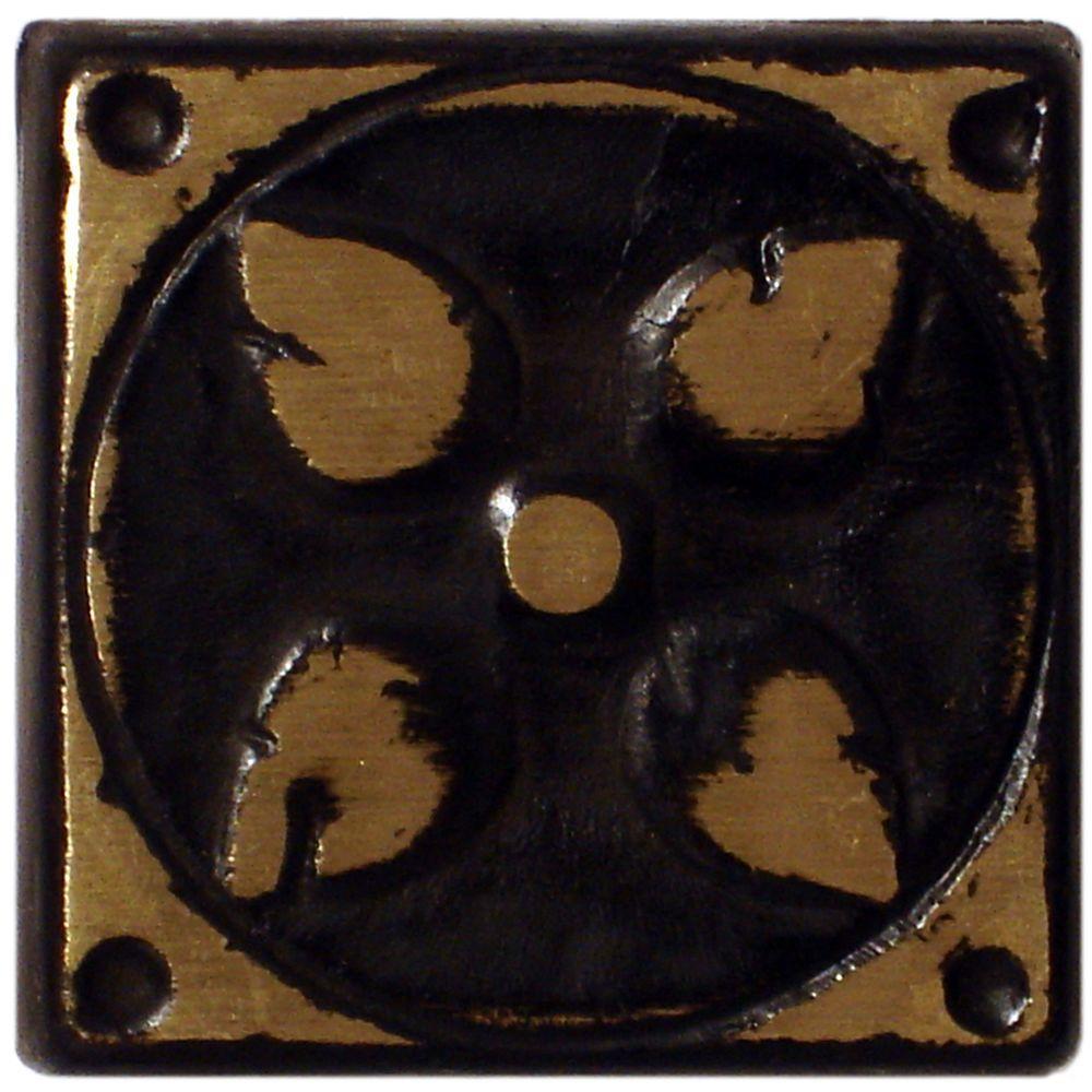 Merola Tile Padova Laton Bronze 1-5/8 in. x 1-5/8 in. Met...