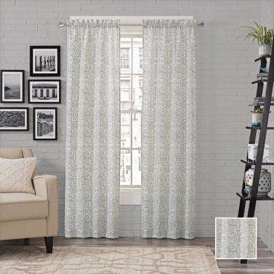 Brockwell Window Curtain Panels in Spa - 56 in. W x 95 in. L (2-Pack)