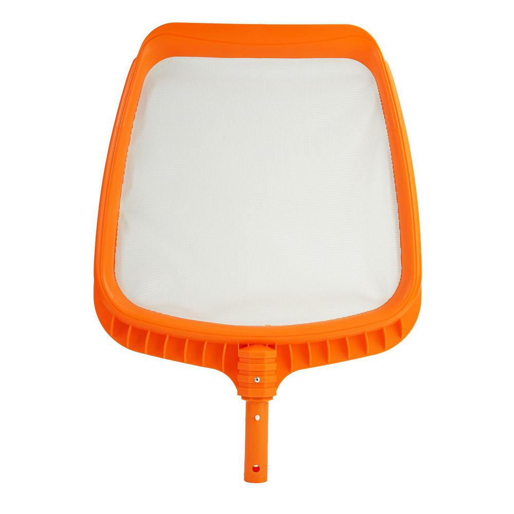 21 in. Tangerine Orange Deluxe Pro-Series Swimming Pool Mesh Skimmer Head