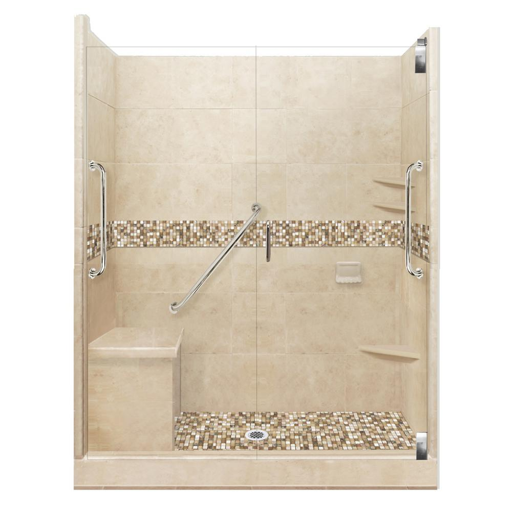 American Bath Factory Roma Freedom Grand Hinged 30 in. x 60 in. x 80 ...