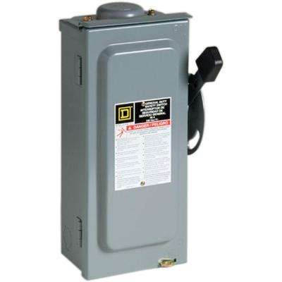 60 Amp 240-Volt 2-Pole 3-Phase Fused Outdoor General Duty Safety Switch