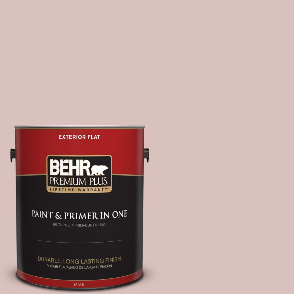 1 gal. #PPU17-08 Peony Blush Flat Exterior Paint