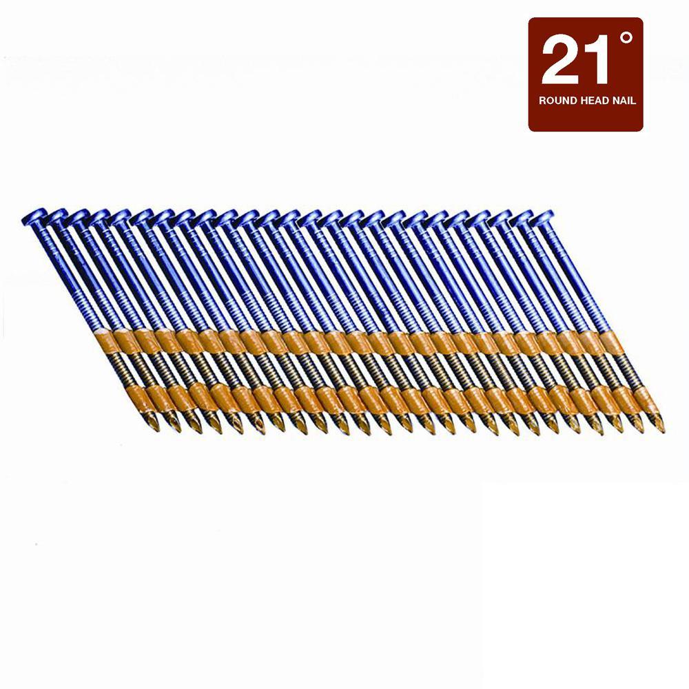 2 in. x 0.113 Plastic Exterior Galvanized Ring Shank Nails (5,000 per Box)