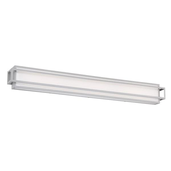 Equation 40 in. Titanium LED Vanity Light Bar and Wall Sconce, 3000K