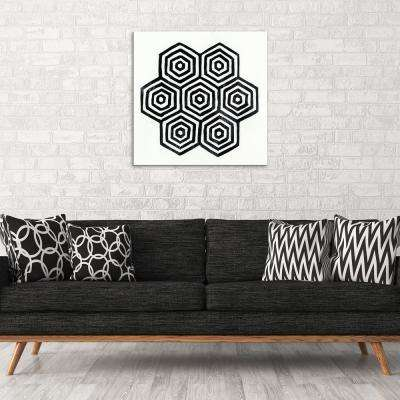 "30 in. x 30 in. ""Monochromatic"" by Milo Printed and Painted Canvas Wall Art"
