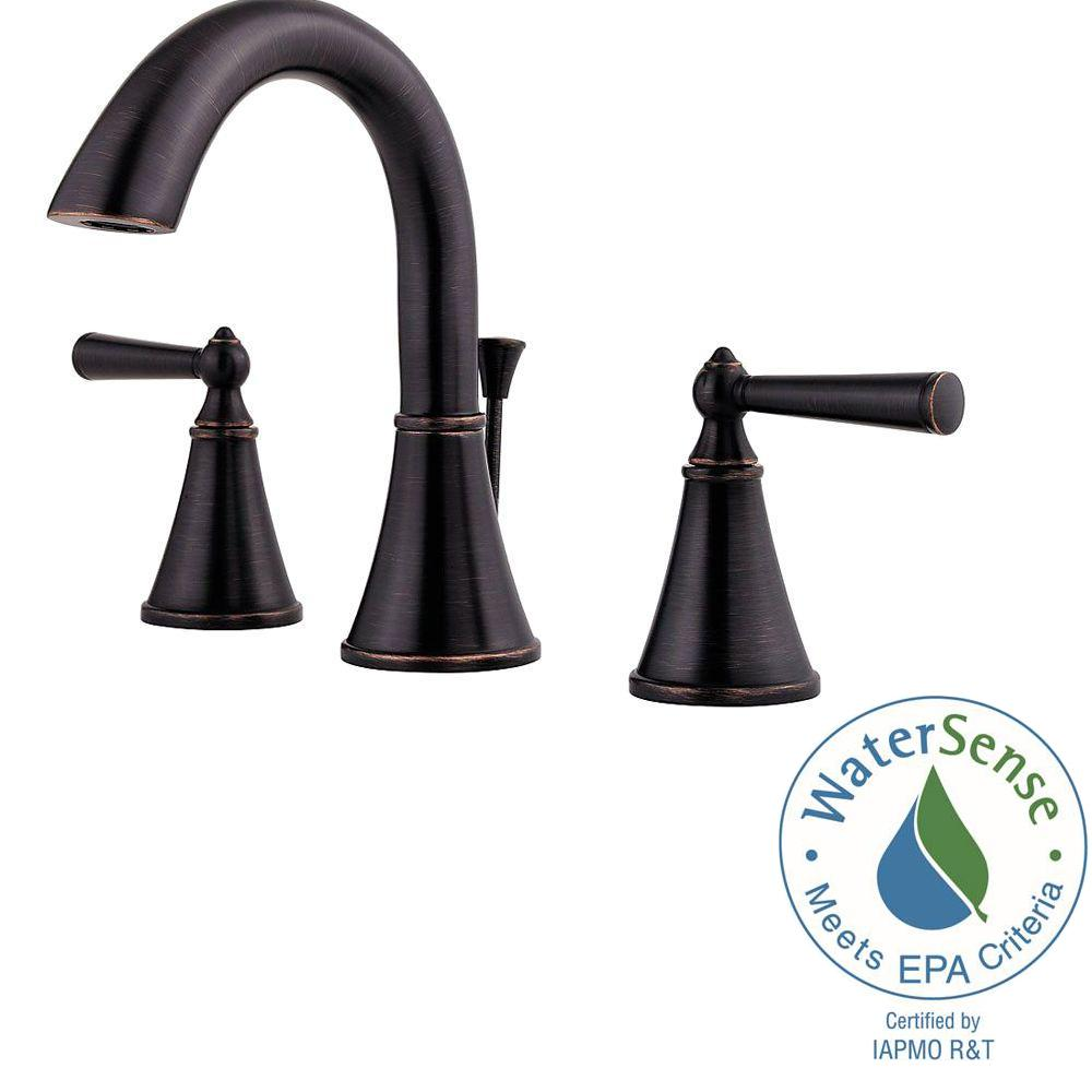 Pfister Saxton 8 in. Widespread 2-Handle High-Arc Bathroom Faucet ...