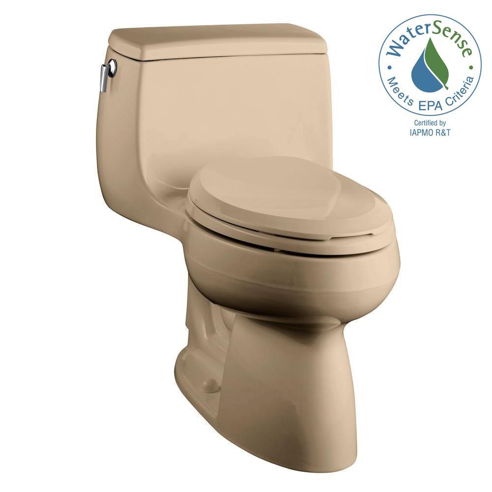 Gabrielle Comfort Height 1-Piece 1.28 GPF Single Flush Elongated Toilet with AquaPiston Flushing Technology in Dune