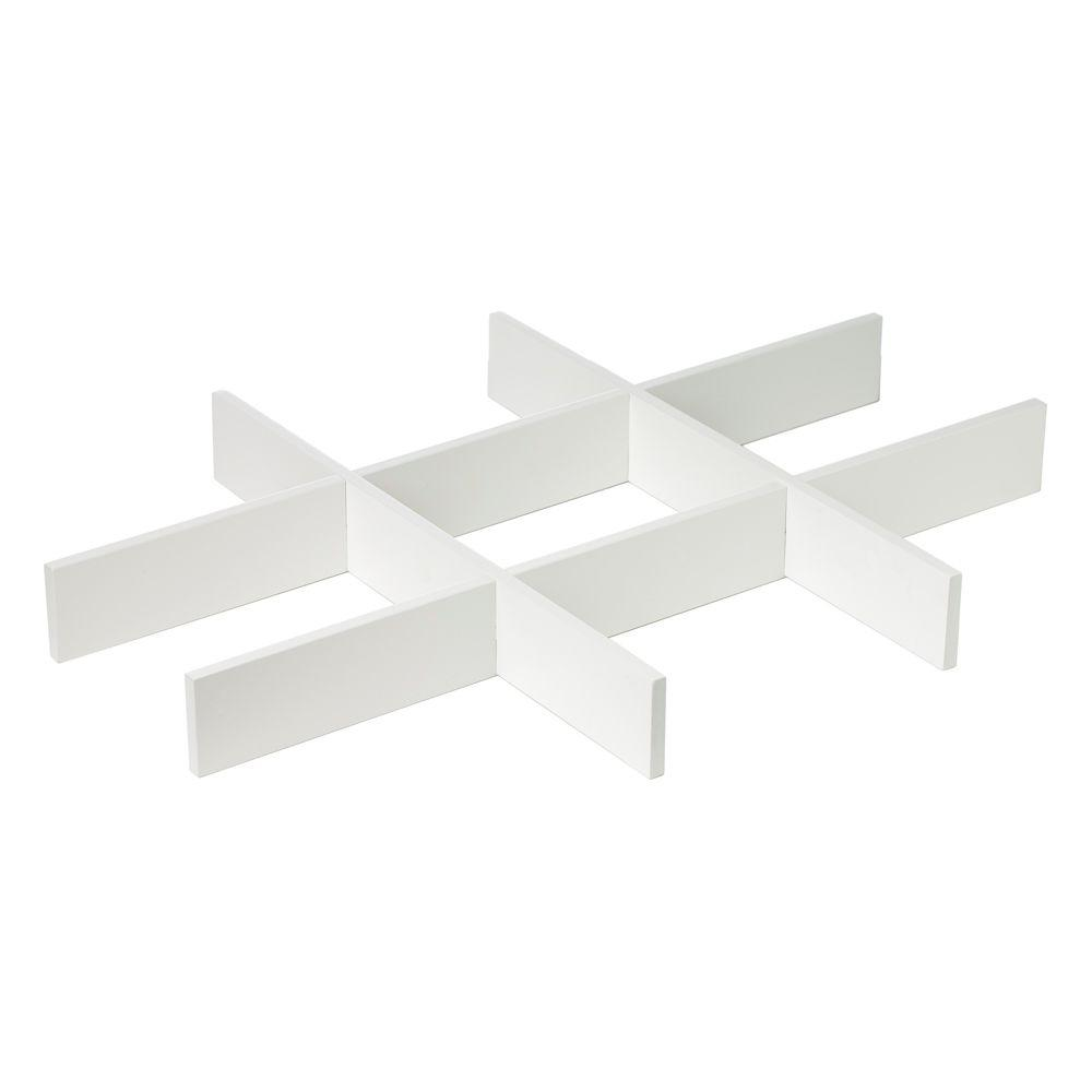 Martha Stewart Living Craft Space 16 in. W Picket Fence Divider Inserts for Cubbie