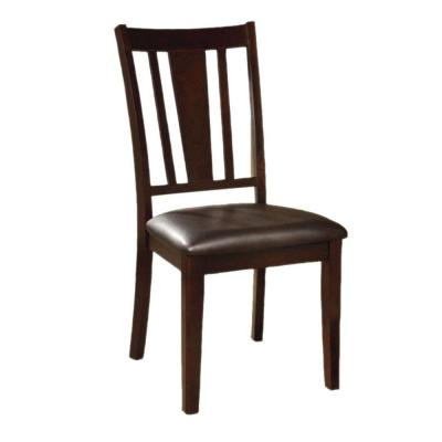Espresso Solid Wooden Side Chair (Set Of 2)