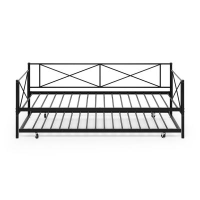 Angeland Carca Black Metal Trundle Daybed