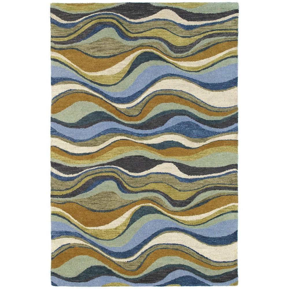Kaleen Casual Alder Blue 3 ft. x 5 ft. Area Rug