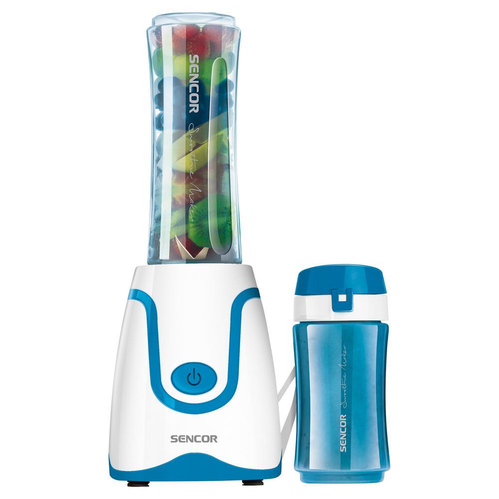 20 oz. Single Speed Blue Smoothie Blender with 2 Bottles