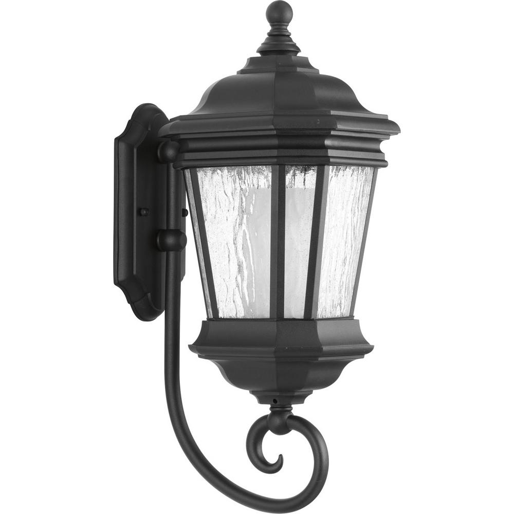 Crawford Collection 1-Light Outdoor Black Wall Lantern