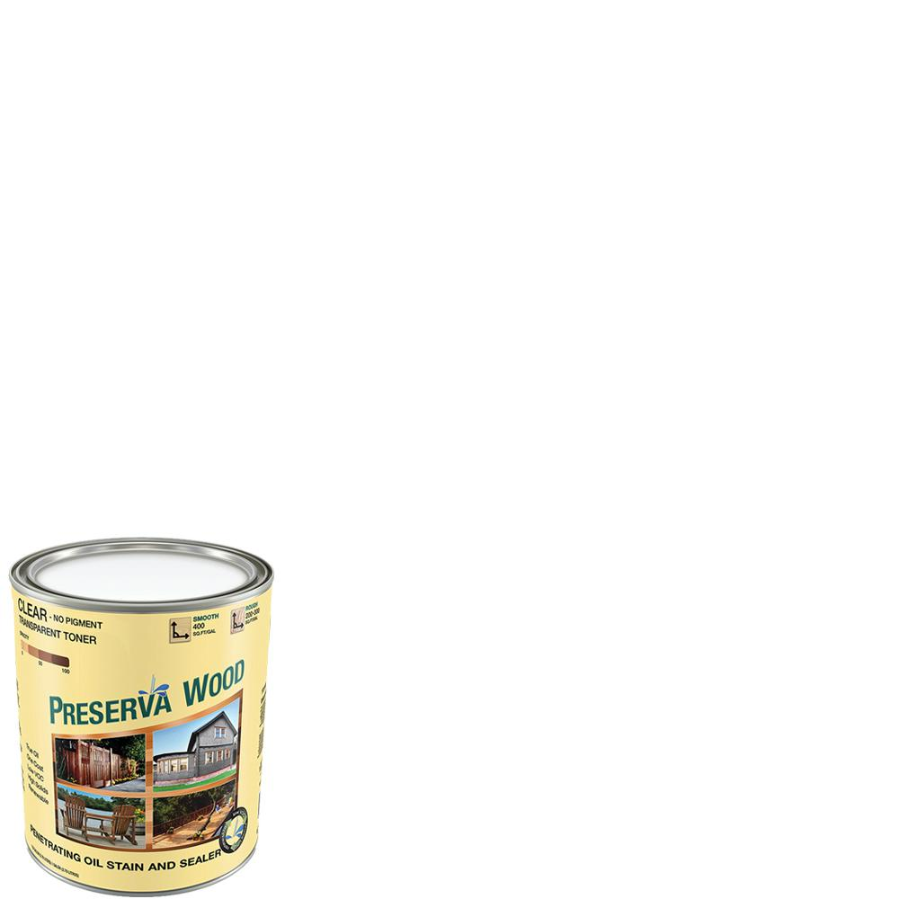Preserva Wood 1 qt. Oil-Based Clear Penetrating Exterior Stain and ...