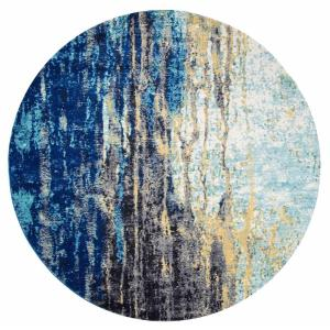 Katharina Blue 8 ft. x 8 ft. Round Area Rug by