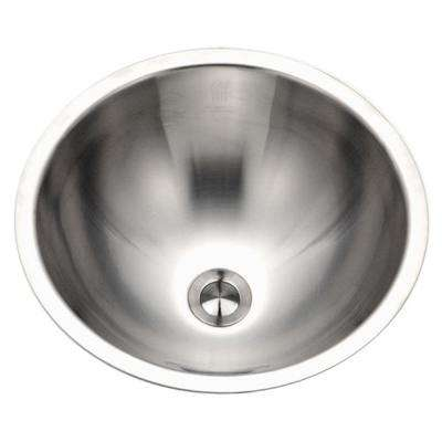 Opus Series Conical Undermount 16.8 in. Single Bowl Lavatory Sink in Stainless Steel