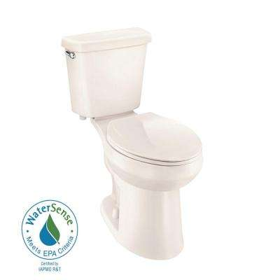 2-piece 1.0 GPF Single Flush Elongated Toilet in Bone
