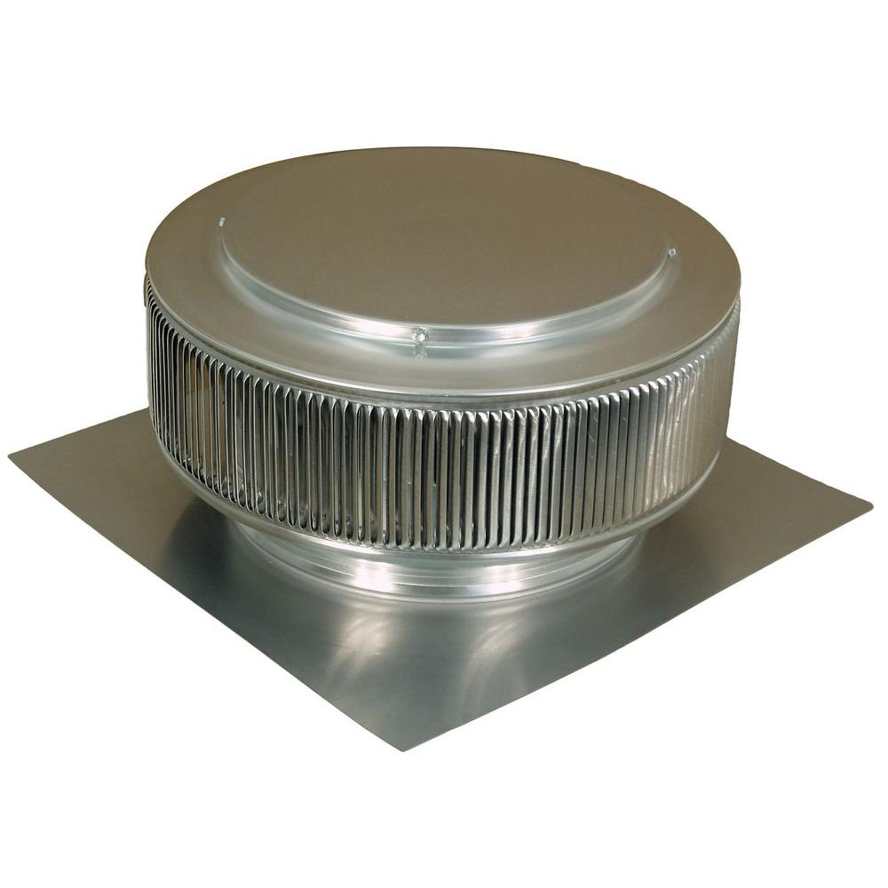 12 in. Mill Finish Aluminum Roof Vent No Moving Parts Wind
