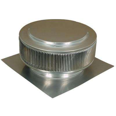 12 in. Mill Finish Aluminum Roof Vent No Moving Parts Wind Turbine