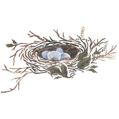 Bird's Nest with Eggs Wall Stencil by DeeSigns