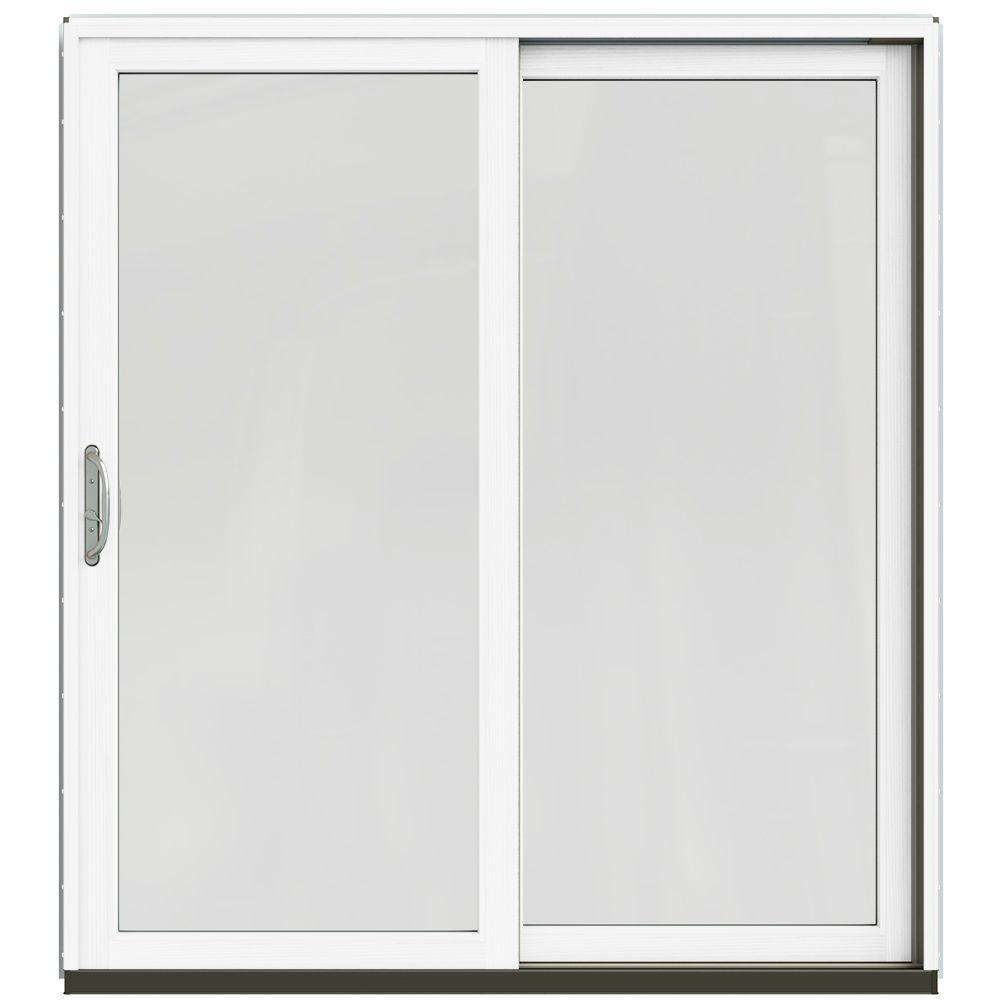71-1/4 in. x 79-1/2 in. W-2500 Brilliant White Right-Hand Clad-Wood Sliding
