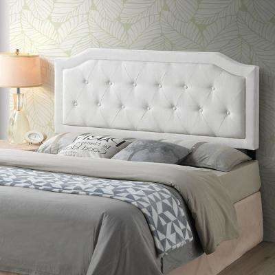 Kensington Tufted Ivory Queen Size Headboard