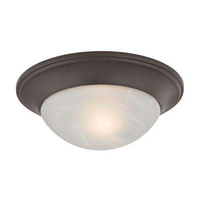 1-Light Oil-Rubbed Bronze Flushmount