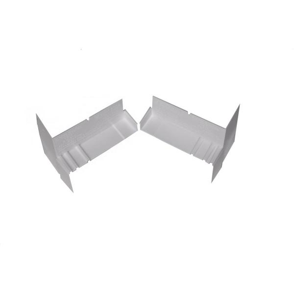 4-9/16 in. White PVC Sloped Sill Pan for Door and Window Installation and Flashing End Caps (Case of 20 Pairs)