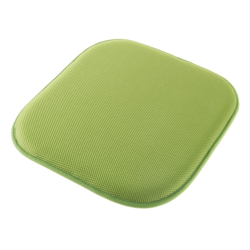 Lavish Home Lime Green Memory Foam Non Slip Chair Pad