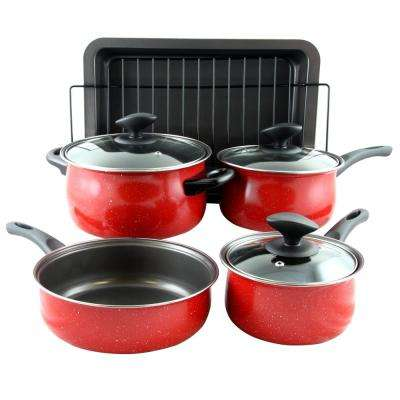 Kelfield 9-Piece Carbon Steel Cookware Set with Lids