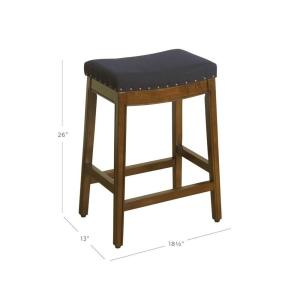 Incredible Homepop Blake Backless 24 In Blue Bar Stool K7446 F2176 Uwap Interior Chair Design Uwaporg