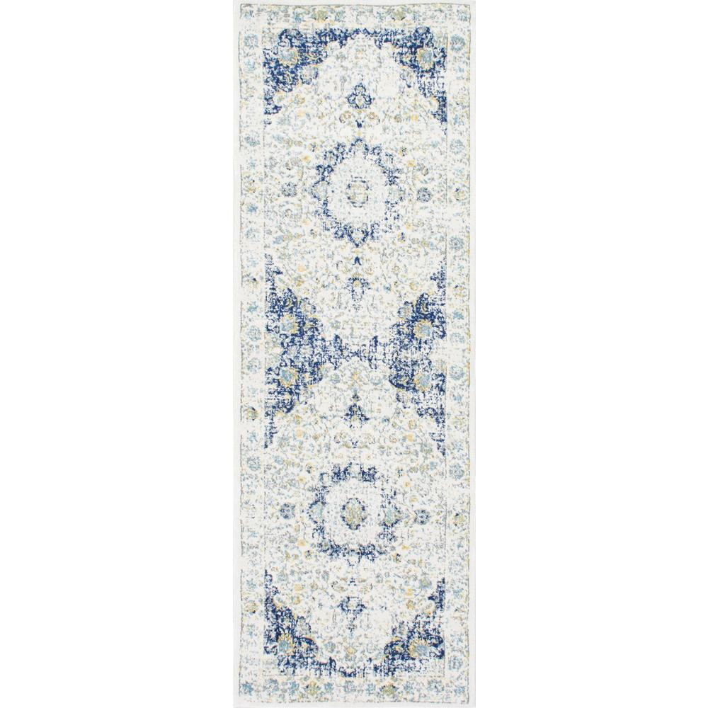 nuLOOM Verona Blue 3 ft. x 8 ft. Runner Rug
