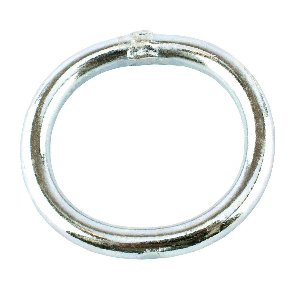 Everbilt 1/4 in. x 1-1/2 in. Zinc-Plated Welded Ring