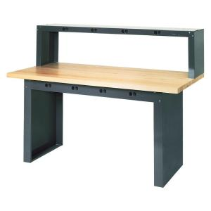 Edsal 32 inch H x 72 inch W x 36 inch D Maple Butcher Block Top Work Bench by Edsal