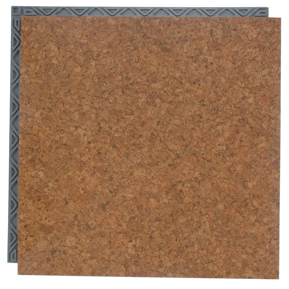 Place N Go Take Home Sample Cork Resilient Vinyl Plank Flooring 18 5 In