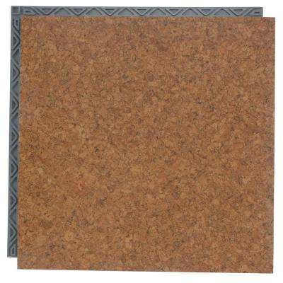 Take Home Sample Cork Resilient Vinyl Plank Flooring 18 5 In X 9 25