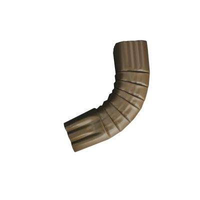 3 in. x 4 in. Royal Brown Aluminum Downpipe - A Elbow