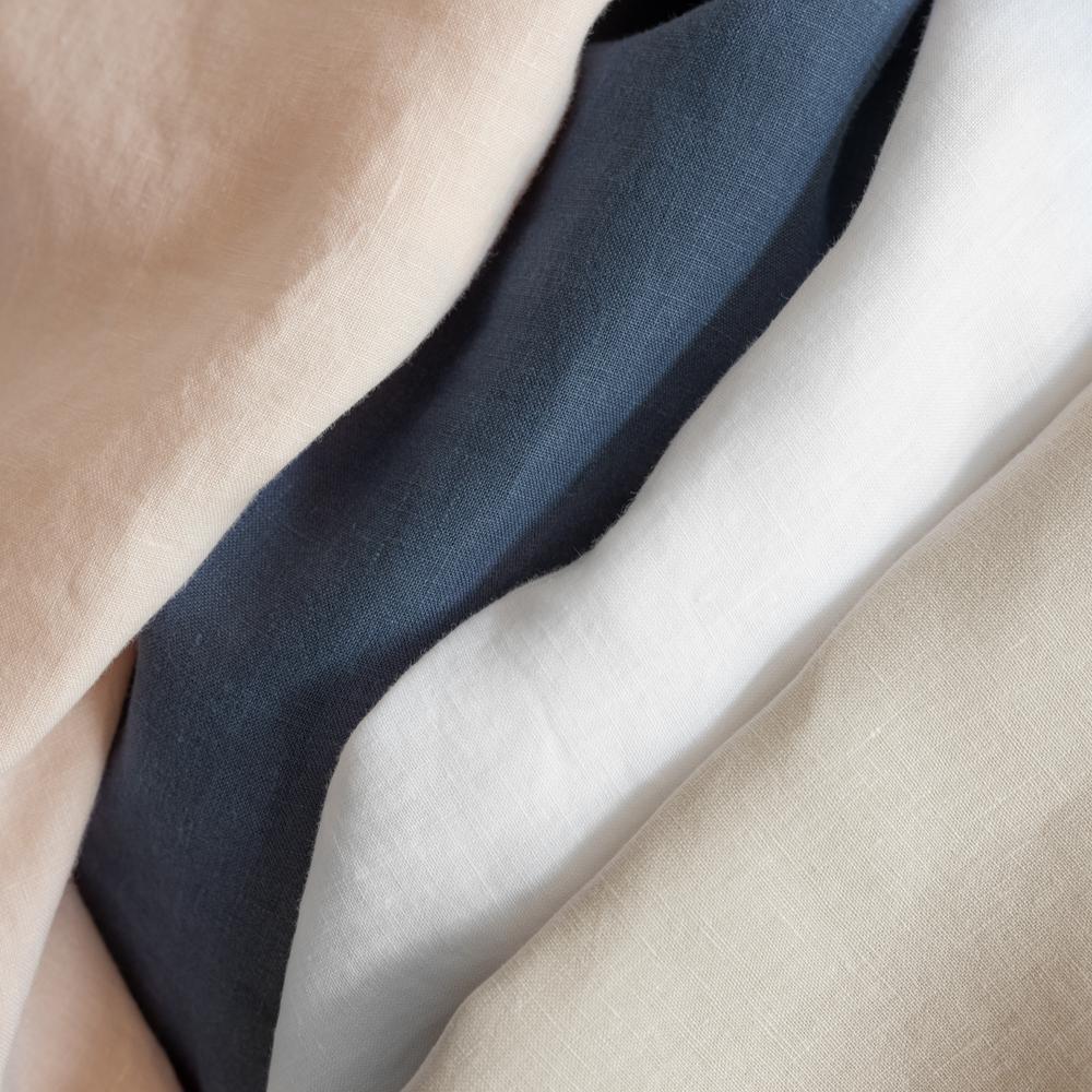 Relaxed Linen Cotton Blush King Duvet Cover Set