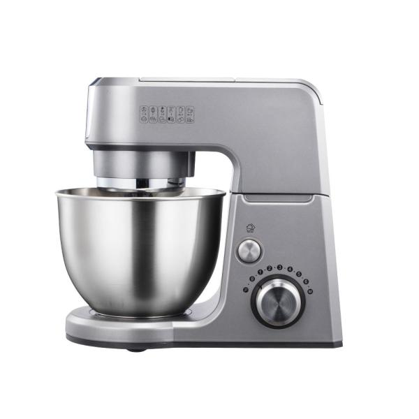 undefined GM25 2.6 Qt. 7-Speed Tilt-Head Silver Stand Mixer with Whisk, Beater and Dough Hook Attachments