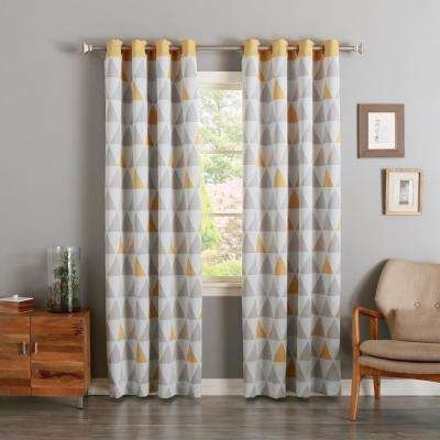 84 in. L Sunshine Mixed Triangle Room Darkening Curtain (2-Pack)