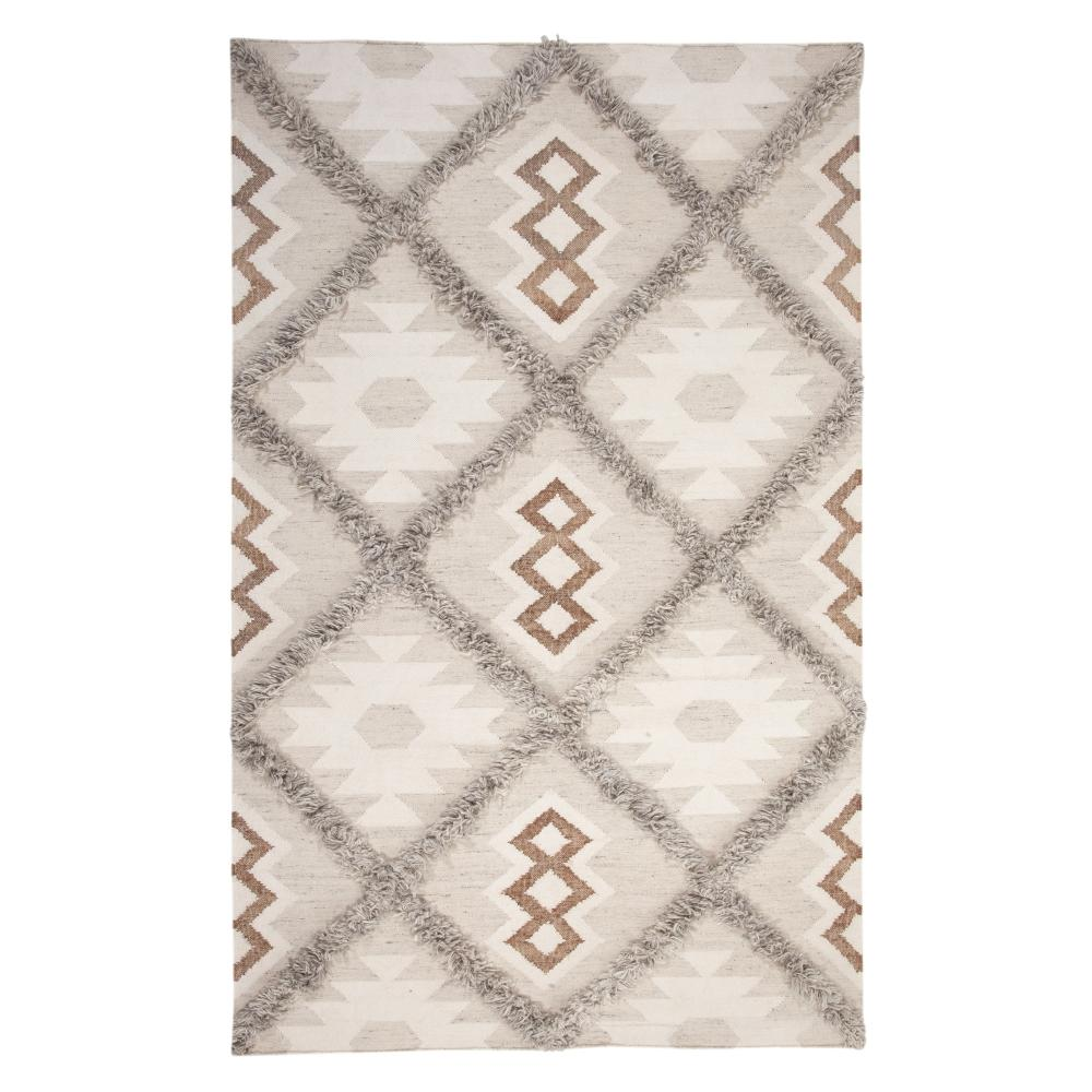 Fes Natural/Ivory/Grey 8 ft. x 10 ft. Area Rug