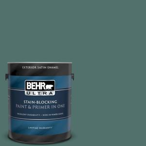 Behr Ultra 1 Gal 480f 6 Shaded Spruce Satin Enamel Exterior Paint And Primer In One 985301 The Home Depot