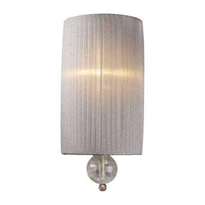 Alexis 1-Light Antique Silver Sconce