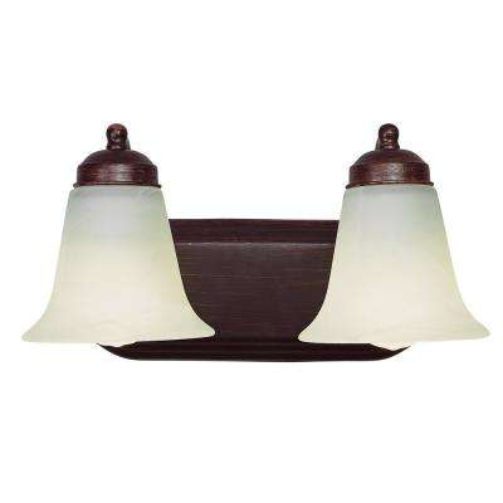Morgan 2-Light Rubbed Oil Bronze CFL Bath Light