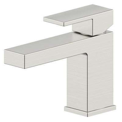Hotel de Ville Single-Handle Single Hole Bathroom Faucet in Brushed Nickel