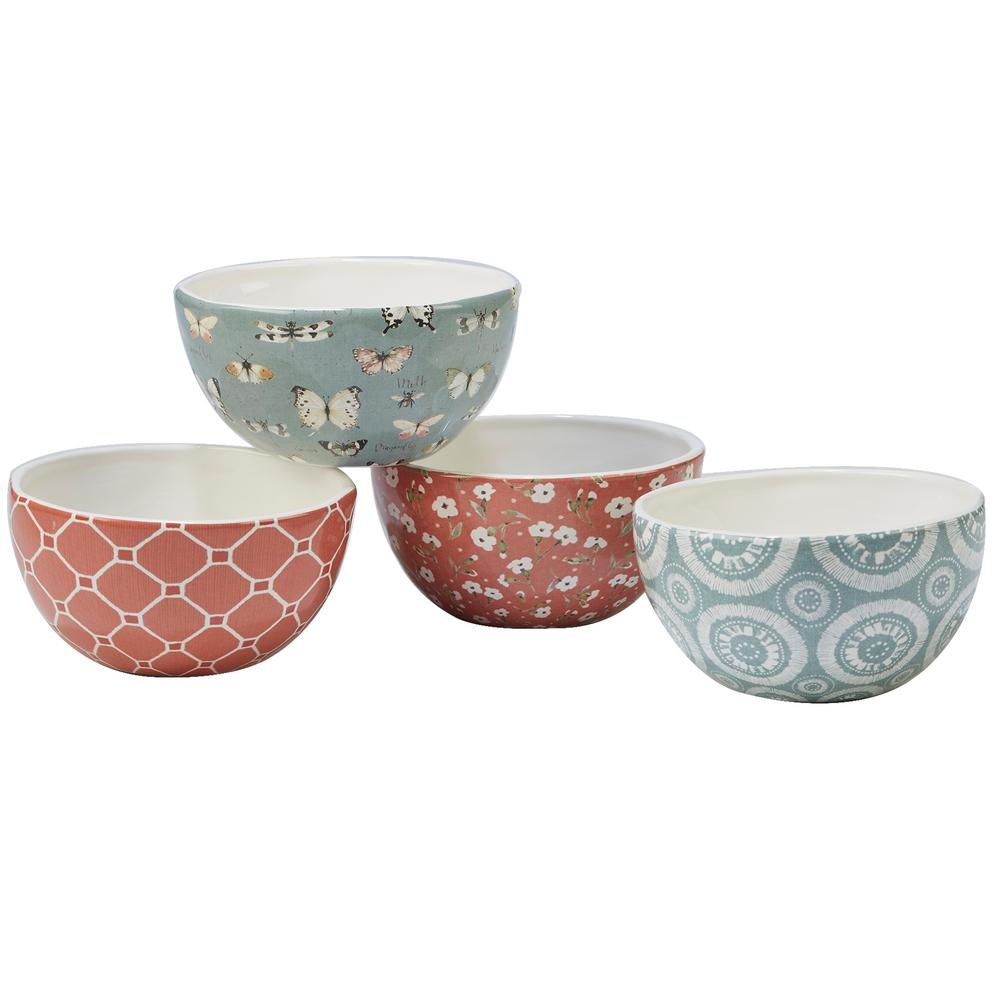 Country Weekend 4-Piece Multi-Colored 5.5 in. x 2.75 in. Ice Cream