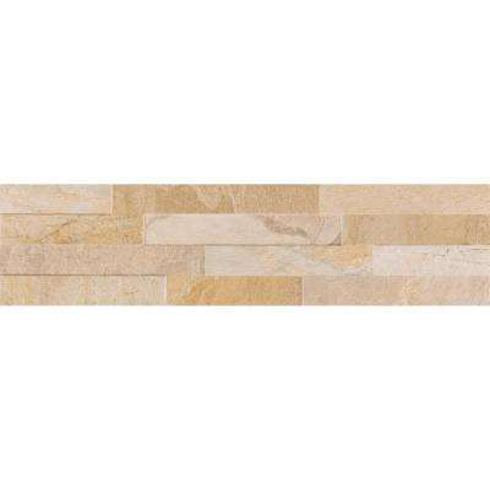 Zion Sand Ledger Panel 6 in. x 24 in. Glazed Porcelain Wall Tile (11 sq. ft. / case)