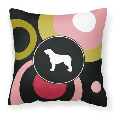 14 in. x 14 in. Multi-Color Lumbar Outdoor Throw Pillow Irish Wolfhound Decorative Canvas Fabric Pillow