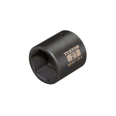1/2 in. Drive 27 mm 6-Point Shallow Impact Socket