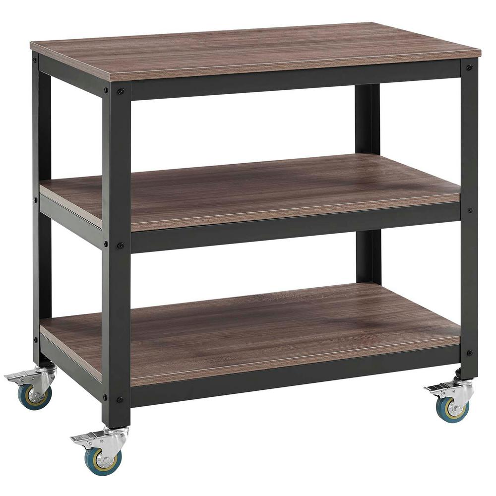 Modway Vivify Gray Walnut Tiered Serving Stand Image